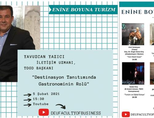 """TDGD Başkanı Yavuz Can Yazıcı """"Enine Boyuna Turizm"""" başlıklı online panele katıldı"""